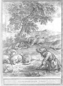 fable de la fontaine - illustration oudry - le loup devenu berger
