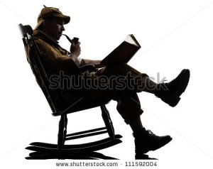 stock-photo-sherlock-holmes-reading-silhouette-sitting-in-rocking-chair-in-studio-on-white-background-111592004